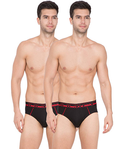 Jockey Bold Brief US14 Black Pack Of 2