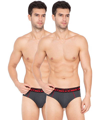 Jockey Bold Brief US14 Charcoal Pack Of 2