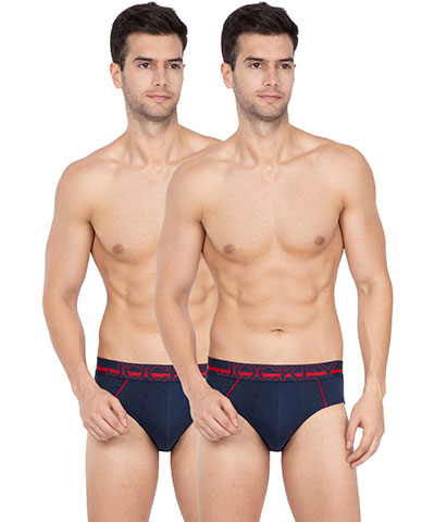 Jockey Bold Brief US14 Navy Pack Of 2