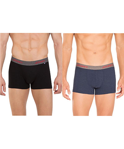 Jockey Modern Trunk US60 Black Ink Blue Pack Of 2