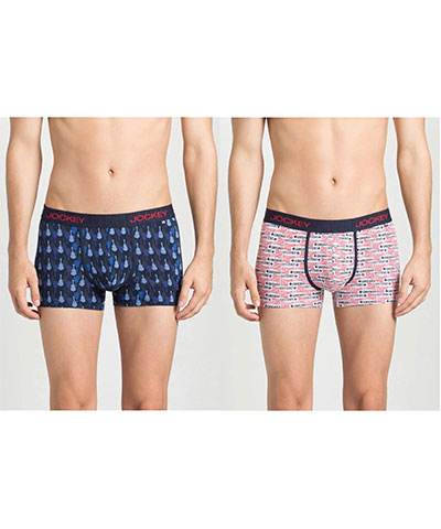 Jockey Printed Trunk US63 Assorted Color Pack Of 2