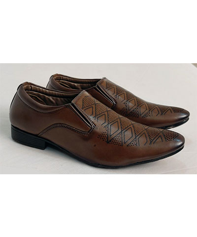 FAS10 Men Partywear Shoes TH-4108 Brown