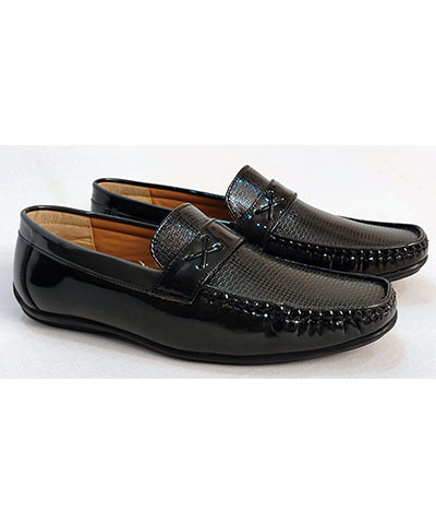 FAS10 Men Loafer Shoes YPC536 Black