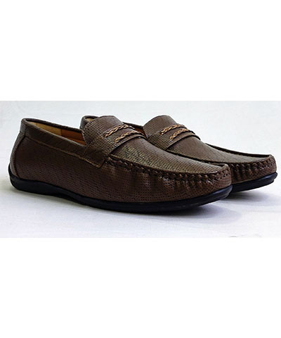 FAS10 Men Loafer Shoes YPC540 Brown