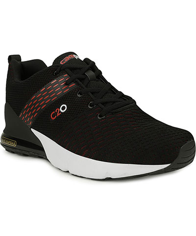 Campus Sports Shoes Baleno Black Red