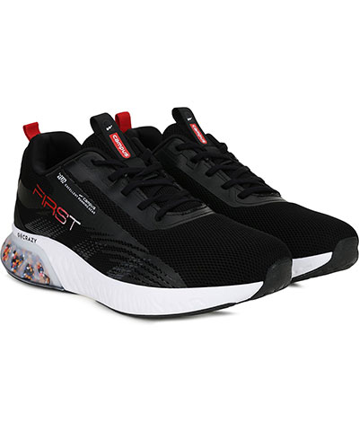 Campus Sports Shoes First Black Red