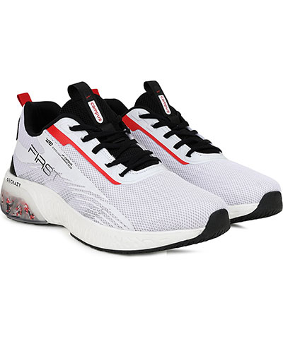 Campus Sports Shoes First White Black Red