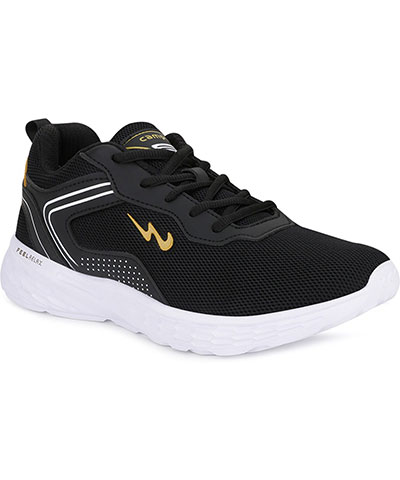 Campus Sports Shoes Kosmo Pro Black Mustard