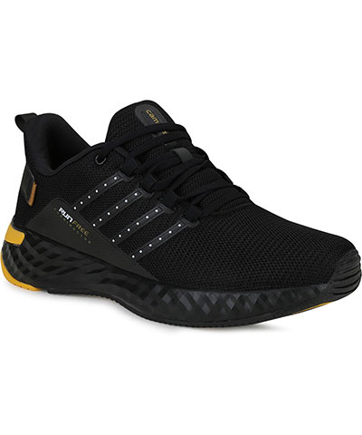 Campus Sports Shoes Oslo Pro Black Golden