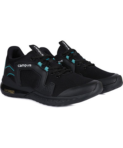 Campus Sports Shoes Patrik Pro Black Tblue
