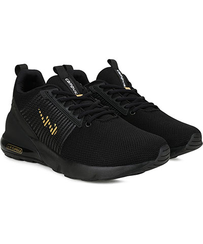 Campus Sports Shoes Sandro Black Gold