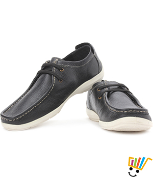 Woodland Corporate Casuals Black WDL0088