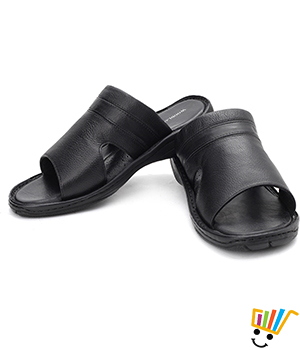 Woodland Leather Casual Sandals Black WDL0001