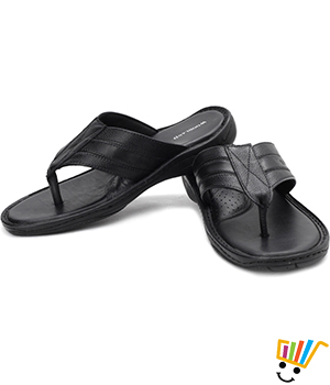 Woodland Leather Casual Sandals Black WDL0002
