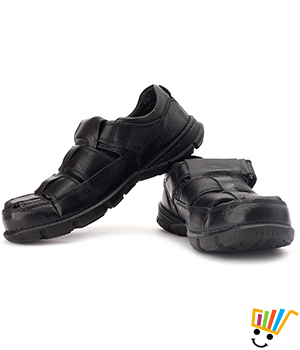 Woodland Leather Casual Sandals Black 139111