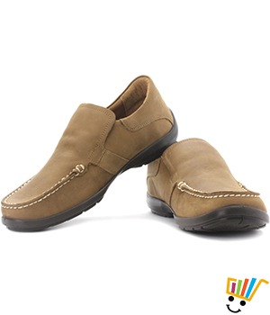 Woodland Loafer Shoes Camel WDL0076