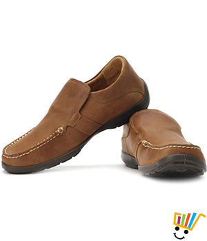 Woodland Loafer Shoes Camel WDL0070