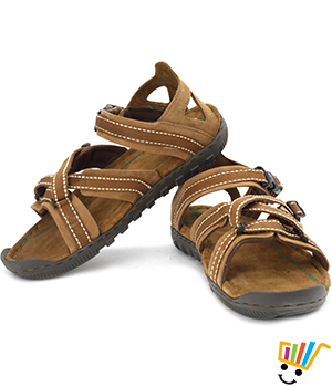 Woodland Leather Casual Sandals Camel 485108