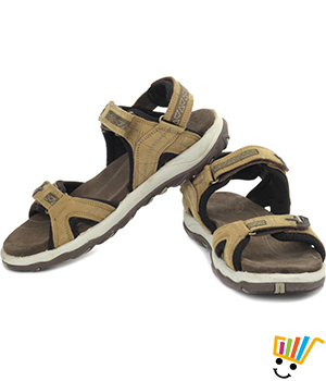 Woodland Leather Casual Sandals Camel WDL0039
