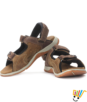 Woodland Leather Casual Sandals Camel WDL0045