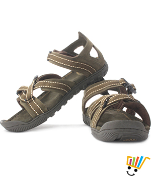 Woodland Leather Casual Sandals Green 485108