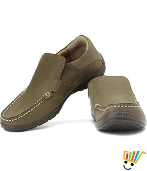 Woodland Loafer Shoes Khaki WDL0075