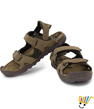 Woodland Leather Casual Sandals Khaki - 491108