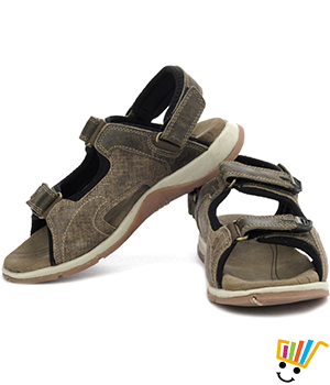 Woodland Leather Casual Sandals Khaki WDL0046