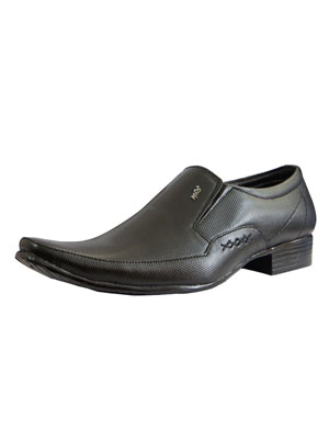 Massico Italiano Black Formal Shoes For Men