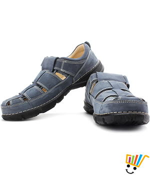 Woodland Leather Casual Sandals Navy 139111