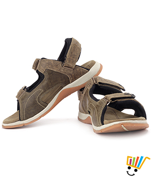 Woodland Leather Casual Sandals Olive WDL0047
