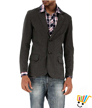 Basics Casual Checked Green 100% Cotton Slim Blazer  11BBZ24952