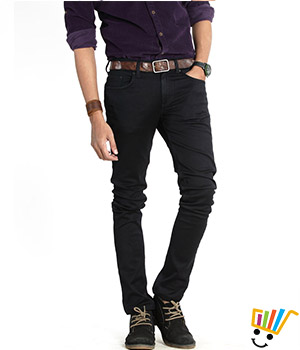 Basics Casual Plain Black Cotton Elastane Super Skinny Jeans  13BJN29097
