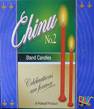 Prakash Chinu Candles Pack of 3 X 15 Candles