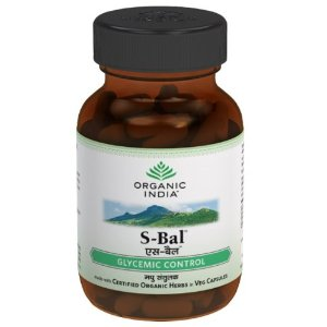 Organic India Sugar Balance 60 Capsules Bottle