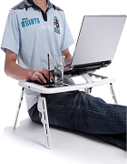 E Table with Laptop Cooling Pad and Stand