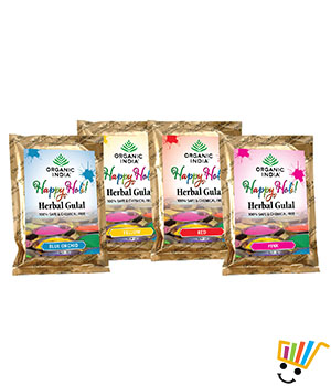 Organic India Gulal Pack of Four Multi Color