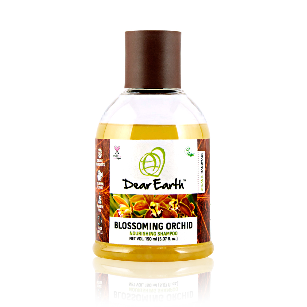 Dear Earth Blossoming Orchid Nourishing Organic & Vegan Shampoo Dry Hair 150ml