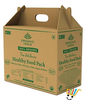 Organic India Healthy Food Pack Monthly Supply + 1 Jute Bag Free