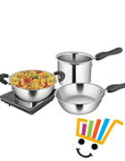 Shri and Sam Induction Cookware Set of 3