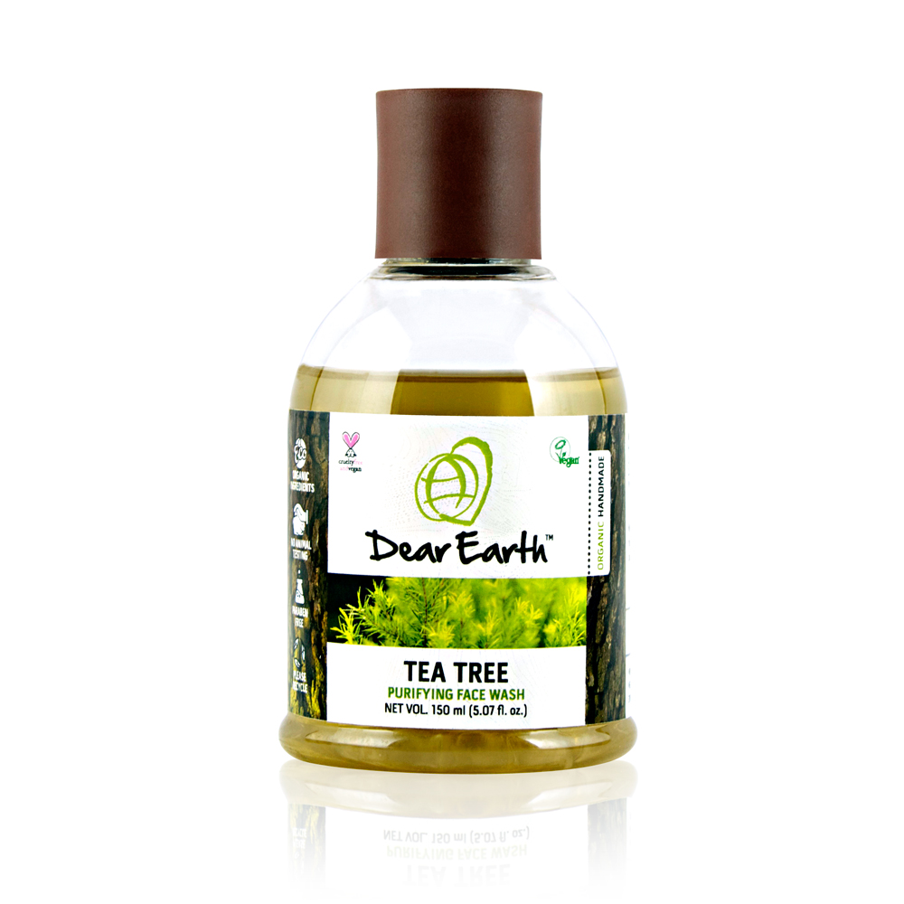 Dear Earth Tea Tree Purifying Organic & Vegan Face Wash 150ml