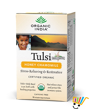 Organic India Tulsi Honey Chamomile Tea Pack Of 5