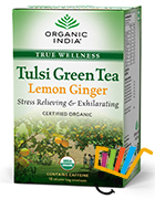 Organic India Tulsi Lemon Ginger Green Tea Pack Of 5