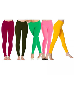 Admire18 Lycra Legging Combo - Set Of 5