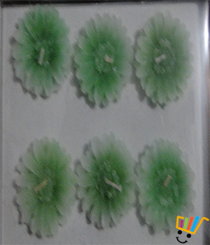 Flora Green Floating Candles Set Of 6