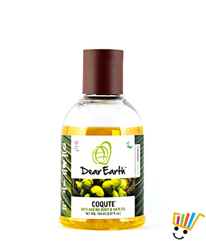Dear Earth CoQute Body & Hair Oil Anti-ageing Organic & Vegan Oil 150 ml 8908002048445