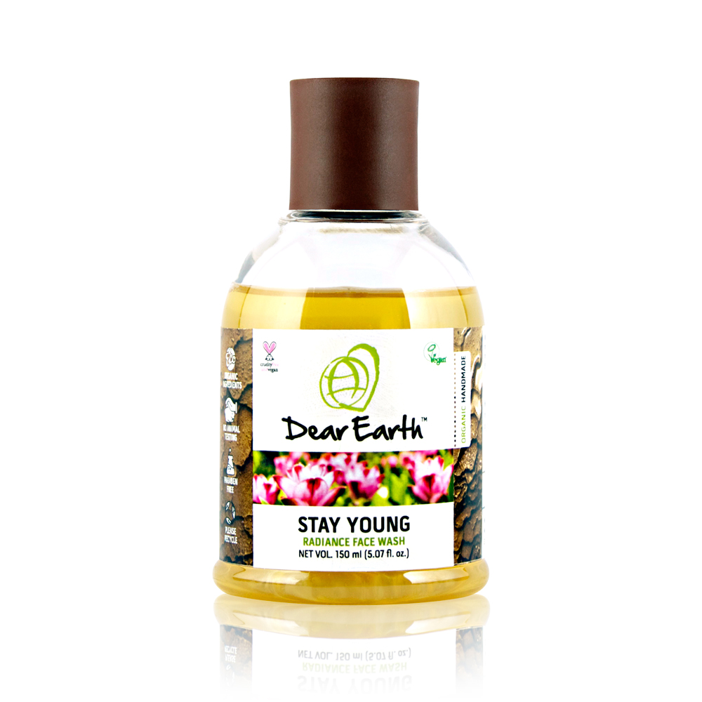 Dear Earth Stay Young Radiance Organic & Vegan Face Wash 150ml
