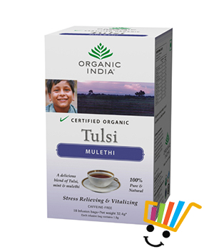 Organic India Tulsi Mulethi 18 TB Pack of 5