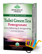 Organic India Tulsi Pomegranate Green Tea Pack Of 5