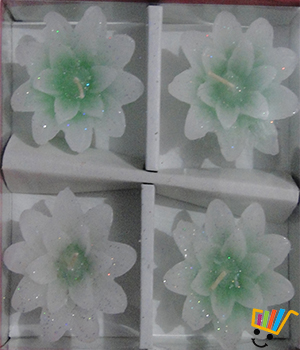 Flora Green Floating Candles Set Of 4
